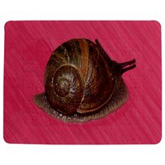 Snail Pink Background Jigsaw Puzzle Photo Stand (Rectangular)