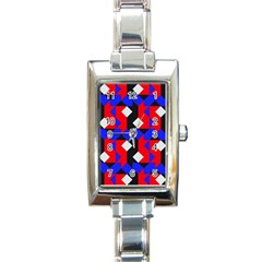 Pattern Abstract Artwork Rectangle Italian Charm Watch