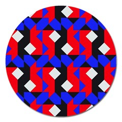 Pattern Abstract Artwork Magnet 5  (Round)