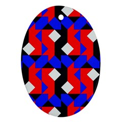 Pattern Abstract Artwork Oval Ornament (Two Sides)