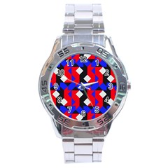 Pattern Abstract Artwork Stainless Steel Analogue Watch