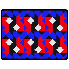 Pattern Abstract Artwork Double Sided Fleece Blanket (large)