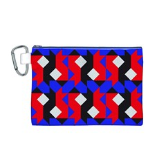 Pattern Abstract Artwork Canvas Cosmetic Bag (m)