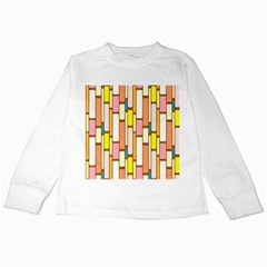 Retro Blocks Kids Long Sleeve T-Shirts