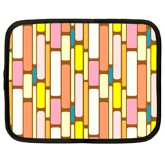 Retro Blocks Netbook Case (Large)