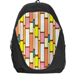 Retro Blocks Backpack Bag