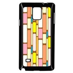 Retro Blocks Samsung Galaxy Note 4 Case (Black)