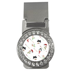Snowman Christmas Pattern Money Clips (CZ)