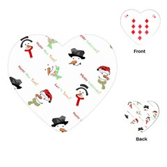 Snowman Christmas Pattern Playing Cards (Heart)