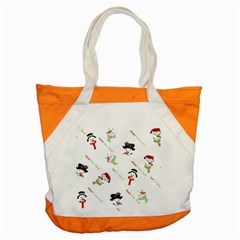 Snowman Christmas Pattern Accent Tote Bag