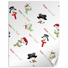Snowman Christmas Pattern Canvas 18  x 24