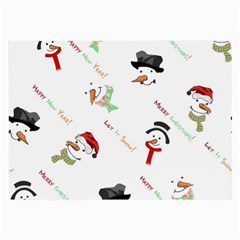 Snowman Christmas Pattern Large Glasses Cloth