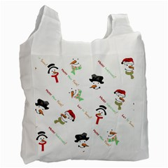 Snowman Christmas Pattern Recycle Bag (One Side)