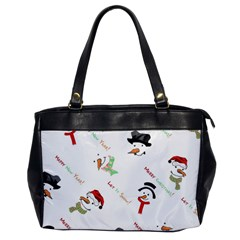 Snowman Christmas Pattern Office Handbags