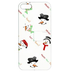 Snowman Christmas Pattern Apple Iphone 5 Hardshell Case With Stand