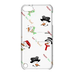 Snowman Christmas Pattern Apple Ipod Touch 5 Hardshell Case With Stand