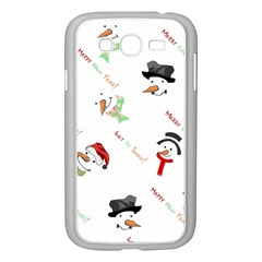 Snowman Christmas Pattern Samsung Galaxy Grand DUOS I9082 Case (White)