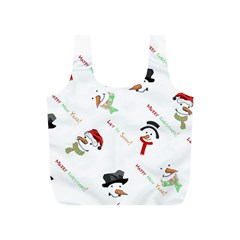 Snowman Christmas Pattern Full Print Recycle Bags (S)