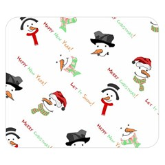 Snowman Christmas Pattern Double Sided Flano Blanket (Small)