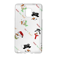 Snowman Christmas Pattern Galaxy Note Edge