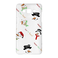 Snowman Christmas Pattern Samsung Galaxy A5 Hardshell Case