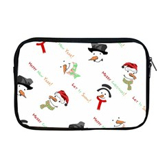 Snowman Christmas Pattern Apple MacBook Pro 17  Zipper Case