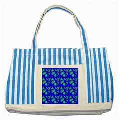 Winter Striped Blue Tote Bag