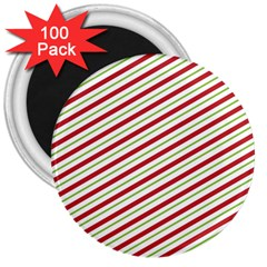 Stripes 3  Magnets (100 pack)
