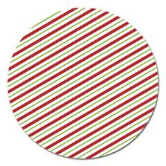 Stripes Magnet 5  (Round)