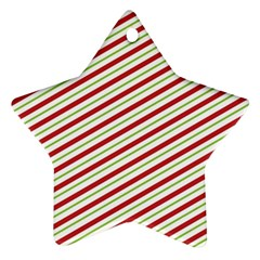 Stripes Star Ornament (Two Sides)