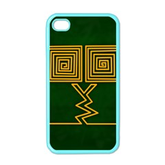 One Stroke Owl Apple iPhone 4 Case (Color)