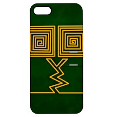 One Stroke Owl Apple iPhone 5 Hardshell Case with Stand