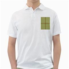 Geometric Tartan Pattern Square Golf Shirts