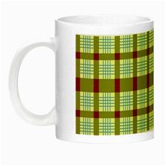 Geometric Tartan Pattern Square Night Luminous Mugs