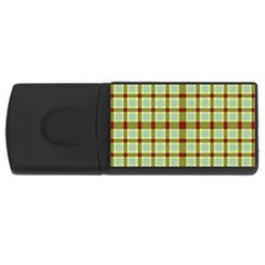 Geometric Tartan Pattern Square USB Flash Drive Rectangular (4 GB)