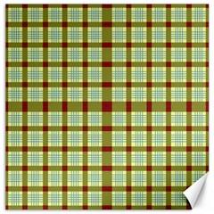Geometric Tartan Pattern Square Canvas 16  X 16