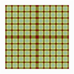 Geometric Tartan Pattern Square Medium Glasses Cloth (2-Side)