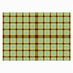 Geometric Tartan Pattern Square Large Glasses Cloth (2-Side)