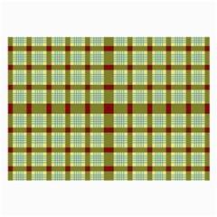 Geometric Tartan Pattern Square Large Glasses Cloth (2-Side)