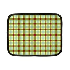 Geometric Tartan Pattern Square Netbook Case (small)
