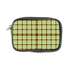 Geometric Tartan Pattern Square Coin Purse