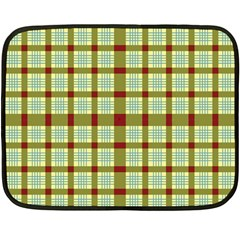 Geometric Tartan Pattern Square Double Sided Fleece Blanket (Mini)