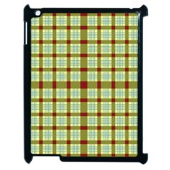 Geometric Tartan Pattern Square Apple iPad 2 Case (Black)