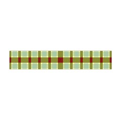 Geometric Tartan Pattern Square Flano Scarf (mini)