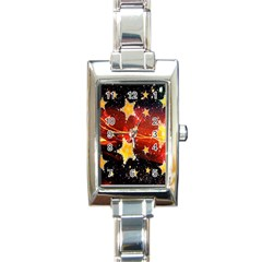 Holiday Space Rectangle Italian Charm Watch