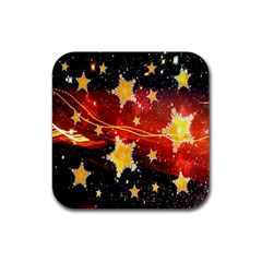 Holiday Space Rubber Square Coaster (4 pack)