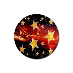 Holiday Space Rubber Coaster (Round)