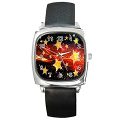 Holiday Space Square Metal Watch