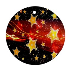 Holiday Space Round Ornament (Two Sides)