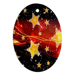 Holiday Space Oval Ornament (Two Sides)